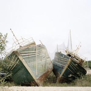 Migrant boats, Lampedusa, Italy
