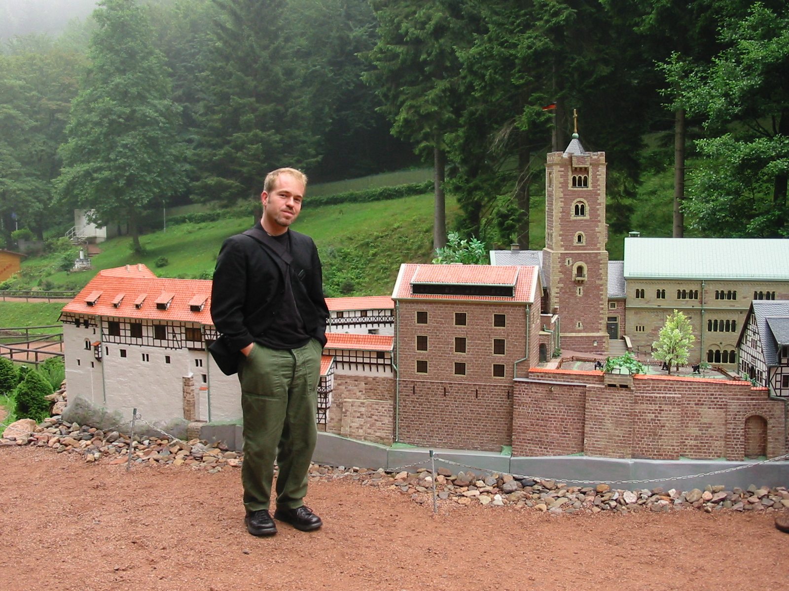 """Jason James in """"Little Thuringia,"""" a park located near the city of Eisenach, where he conducted field research on historic preservation and nationalism from 1996-98 Photo credit to Jason James"""