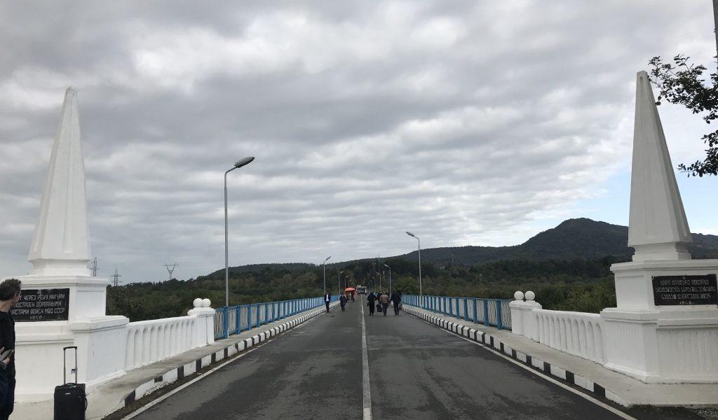 Bridge between Georgia and Abhazia